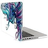 "Laptop Hülle für Apple MacBook Pro Retina 13"" (Ende 2012 - Mitte 2016) - kwmobile Crystal Laptopschutzhülle Cover Case Rainbow Girl Design Blau Pink Transparent - Transparente Notebook Schutzhülle Tasche"