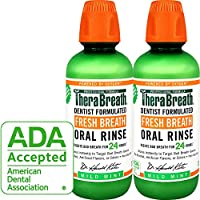 TheraBreath - Fresh Breath Oral Rinse - Dentist Formulated - Stops Bad Breath - No Artificial Flavors - Gluten Free - Certified Kosher - Mild Mint Flavor - 16 Ounces - Two-Pack