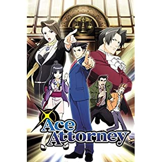 Ace Attorney Key Art Anime Poster 24x36