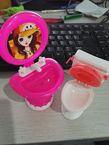 Und Waschbecken Wc Puppe, (kuulee süß waschbecken toilette setzen plastik badezimmer wc für barbie - puppen spüle spiegel kinder geschenk)