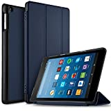 Neue Fire HD 8 hülle ,IVSO Ultra Schlank Ständer Slim Leder zubehör Schutzhülle mit Automatischem Schlaf Funktion für neue Fire HD 8-Tablet, 20,3 cm 8 Zoll(6. Generation - 2016)perfekt geeignet, Blau
