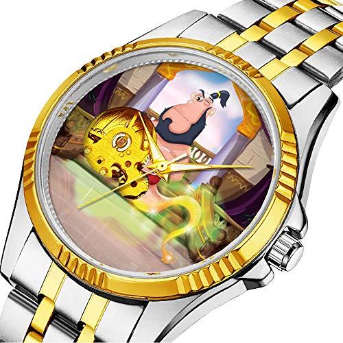 enuhr Klassische mechanische Uhr Timeless Design Mechanic (Gold) 749.Magical Genie und Seine Lampe ()