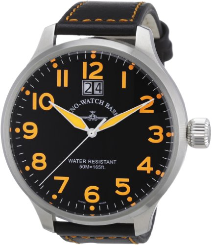 Zeno Watch Basel Herren-Armbanduhr XL Quarz Analog Leder 6221Q-a15