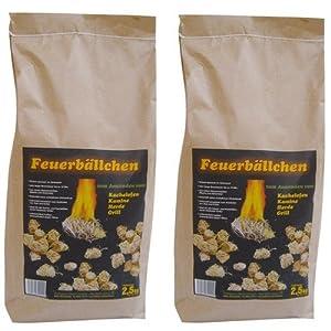 RaiffeisenWaren Kaminanzünder, Feueranzünder, Feuerbällchen (Anzünder ökologisch, aus Naturprodukten – Wachs, Naturholz; Nässe unempfindlich; Brenndauer ca. 10 min) 5 kg
