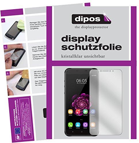 dipos I 2X Schutzfolie klar passend für Oukitel U20 Plus Folie Bildschirmschutzfolie