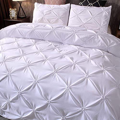 Bettwäsche-Sets Luxus Bettbezug with 3 Stück Polyesterfaser Möbel Bett (Color : -, Size : Full) (Full-size-bett-möbel)