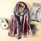 Hmeili Schals Mode Schal Seidenschal Frauen Schals Schal Druck Hijab Wrap 180 * 90 cm