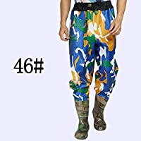 Muchen Wader 75s - Vadeador de pesca con cintura alta con pantalones de vadeo, botas de nailon + PVC para pesca al aire libre A345, talla 46