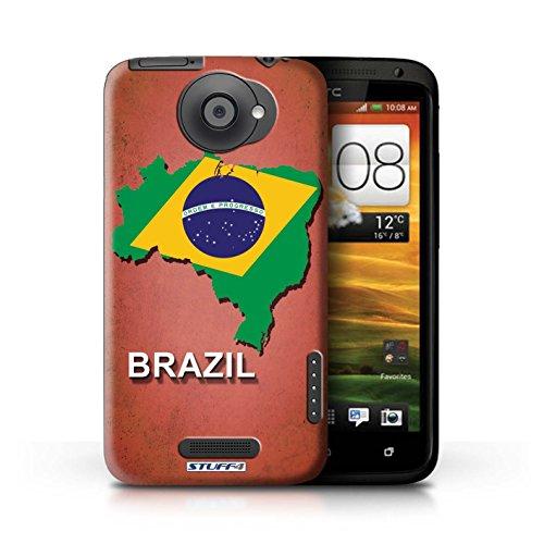 Kobalt® Imprimé Etui / Coque pour HTC One X / Grèce/Grecque conception / Série Drapeau Pays Brésil