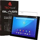 TECHGEAR® Verre Trempé pour Tablette Xperia Z4, Protecteur d'Écran Original en Verre Trempé Compatible pour Tablette Sony Xperia Z4