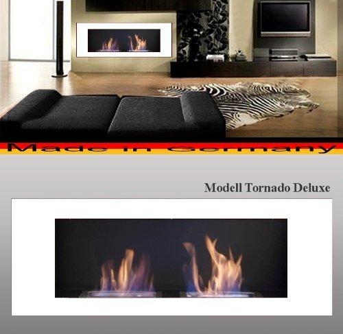 L'éthanol et cheminée de gel Cheminée Modèle Tornado Deluxe (Blanc)