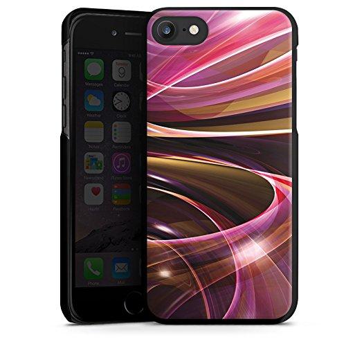 Apple iPhone X Silikon Hülle Case Schutzhülle Wirbel Strudel Muster Hard Case schwarz