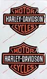 Lot de 2 stickers Logo Harley Davidson En résine Effet 3DPour réservoir ou casque.
