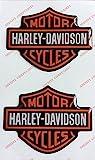 Wappen Logo Decal Harley Davidson, Paar Aufkleber harzbeschichtet, Effekt 3d. Für Benzintank oder Helm