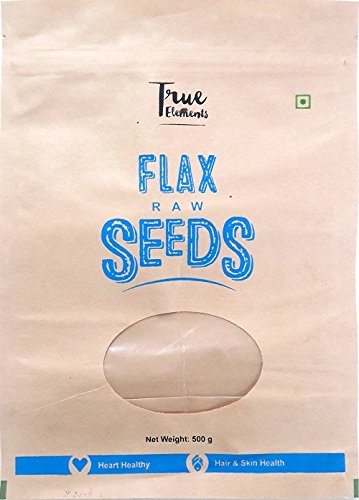True Elements Raw Flax Seeds, 500g