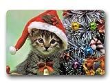 standard-store personalizado navidad Felpudo, diseño de gato