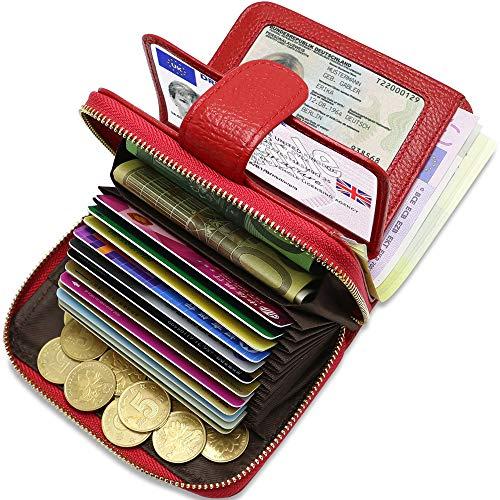 c923182a94d9cf Portafoglio Porta Carte Credito Donna in Pelle ENONEO Porta Carte di  Credito RFID con 12 Ranuras