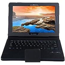 IVSO Custodia Protettiva con Tastiera QWERTY Bluetooth per Lenovo Tab 2 A10-70 (2015 Version) Tablet (Nero)