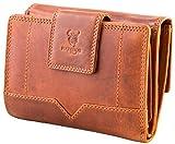 Matador Damen Geldbörse Echt-Leder Geldbeutel Portmonee RFID Schutz Braun
