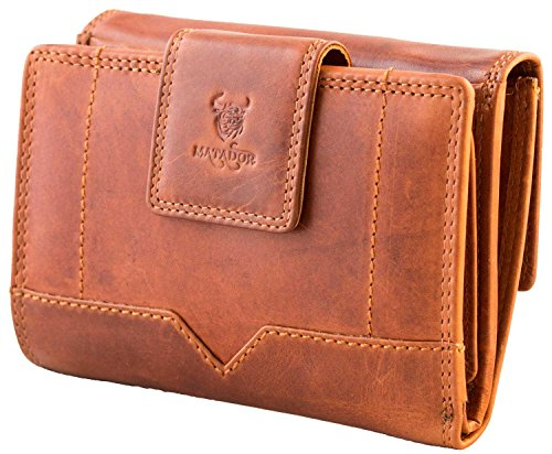 MATADOR ECHT Leder XXL Geldbörse Geldbeutel Damen Frauen Portmonee Portemonnaie Geldtasche RFID Schutz INKL. Geschenkbox (Damen Leder Echt)