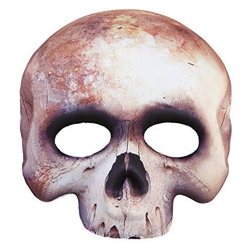 Widmann 05700 Maske Skelett kinnlos, Weiß, One ()