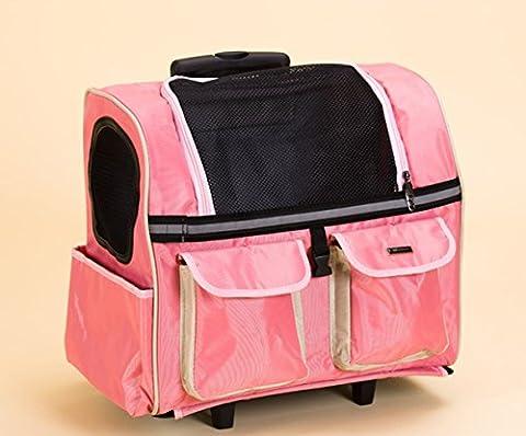KAI-Animaux domestiques admis le levier multifonction sur le châssis de grande capacité paquet PET son dos fond dur Paquet levier caché?45X24X38cm?Pink