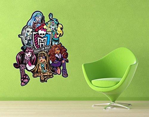 Klebefieber Wandtattoo Monster High Friends Clique 2 B x H: 60cm x 81cm (Monster High Ghoulia Brille)