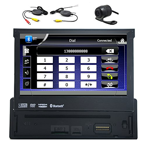 1 Din 7 pollici Bluetooth Car Digital Media Receiver stereo con GPS di navigazione FM radio AM Headunit Car DVD