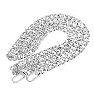 Generic Sostituzione Sacchetto Borsa catena Cinturino Cinghie Spalla Manico Tracolla - Argento