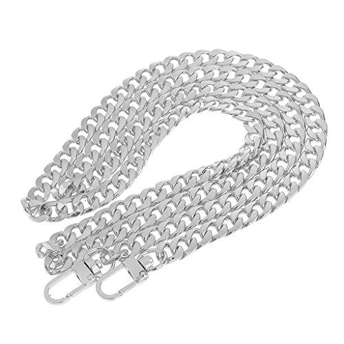 Ersatz Schulter Riemen Kettenbügel Geldbeutelhandgriff Wechseln Metall Schultergurte - Silber (Handtaschen Silber Kette)