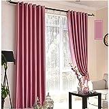 GSPCL Vorhang Fenster Vorhang Gaze Schlafzimmer Schattierung Plissee Jalousien Verdunkelungsvorhänge, Wohnzimmer Balkon Schlafzimmer Dekoratives Fenster (Farbe : Pink, größe : 1*W2.5*H2.7M)