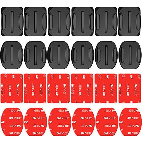 Descripción:    Los soportes adhesivos de 6 paquetes están diseñados para conectar su GoPro a cualquier casco, kayak, capó de automóvil, tabla de surf.    Los soportes adhesivos impermeables de resistencia industrial se pueden fijar firmemente en ...