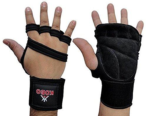 Kobo 3613 Neoprene Gym Gloves, Large (Black)