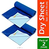 #9: OYO BABY- Baby Bed Protector | Waterproof Dry Sheet Small Combo for New Born Babies Pack of 2 (Each Size : 50 cm x 70 cm)