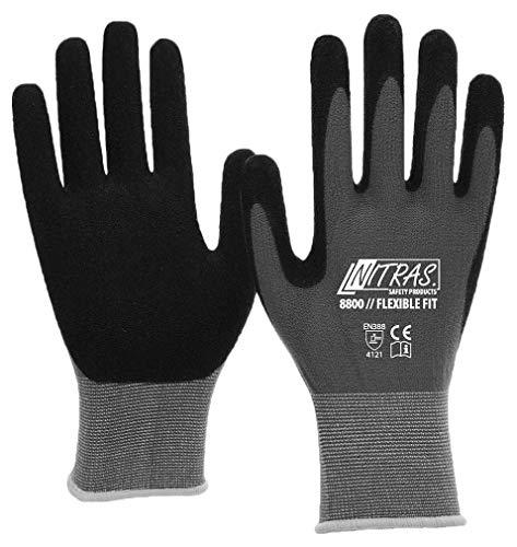 garten handschuhe 3 Paar Nitras 8800 - Flexible Fit - Arbeitshandschuhe nach EN 388 - Gr 09/L