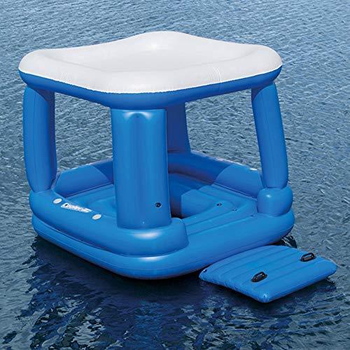 AUNLPB Aufblasbare Schwimminsel Tropical Breeze, Lazy River Float, extra große Schwimmliege für Pool oder See, Mehrzweck-Schwimmbecken