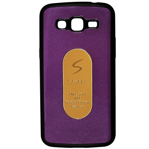 Casotec Metal Back TPU Back Case Cover for Samsung Galaxy Grand 2 G7105 - Purple  available at amazon for Rs.99