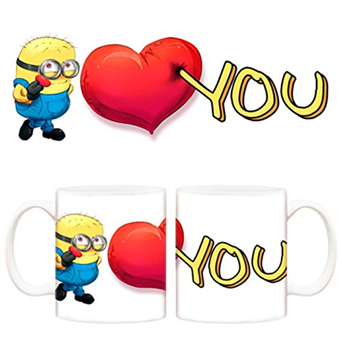 Taza de amor Minions, I love you