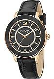 Swarovski Damen-Armbanduhr Analog Quarz One Size, schwarz, schwarz