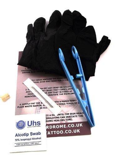 DCTattoo 1.6mm (14g) Sterile Professionale Lama Ago Kit Piercing Per