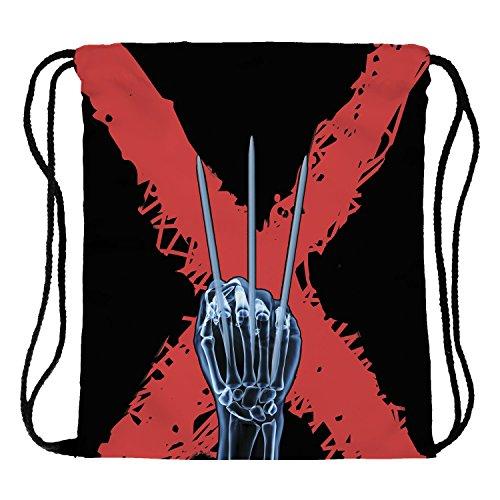 Fringoo® Tasche für Jungen und Mädchen mit Kordelzug, PE Kit Gym-Tasche fürs Schwimmen, Reisen, für die Schule, Sporttasche, unisex damen Mädchen Herren, Wolverine - (Herren Wolverine Kit)