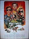 Once Upon a Time in Hollywood Affiche Cinéma Originale Pliée (Format 160x120 cm) Leonardo Dicaprio Brad Pitt Tarantino