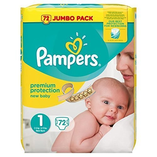 Pampers New Baby Nappies Size 1 Jumbo Pack 72 Case of 2 Total 144 Nappies_Sapphire Fashions by Pampers