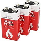 3 ANSMANN Lithium Rauchmelder Batterie, 9V / 10 Jahre lagerfähige Brandmelder Batterie / E-Block mit Lithium-Ionen für höhere Leistung, Ideal für Feuermelder, Alarmanlagen & medizinische Geräte