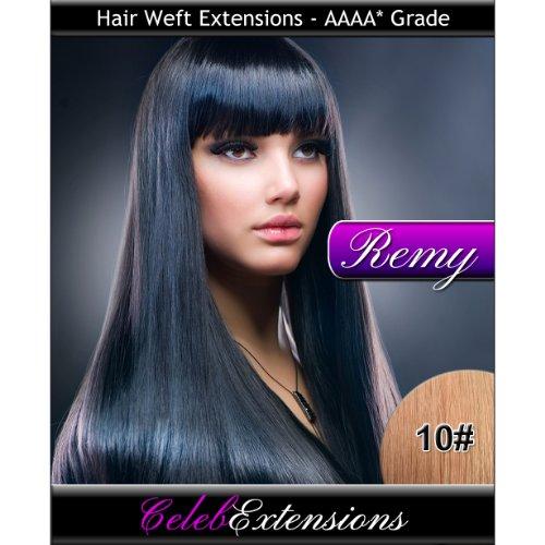 40,6 cm 10 # Chatain Clair Remy extensions capillaires Cheveux indiens 100% humains tissage. Lisse et Soyeux 6 m Poids : 100 g AAAA de grande qualité. Qualité. Par celebextensions