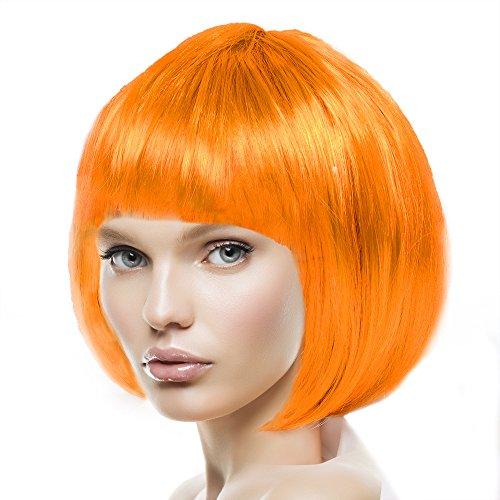 men, Herren & Kinder Cabaret 14 Farben (Orange) (Orange Kostüm Perücke)