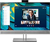 HP EliteDisplay E243m 60,45 cm (23,8 Zoll Full HD IPS) Monitor (Webcam, Lautsprecher, HDMI, DisplayPort, VGA, USB, Pivotfunktion, 5ms) silber