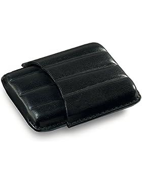 Egoist JK08102 Pitillera de Cuero alta calidad para 4 Cigarros, Mezzanine (Color Negro)
