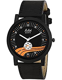 RELISH RE-S8137BB Black Slim Analog Watches For Men's And Boy's