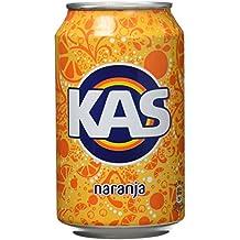 Kas refresco de Zumo de Naranja - Pack de 9 x 33 cl - Total: 2970 ml
